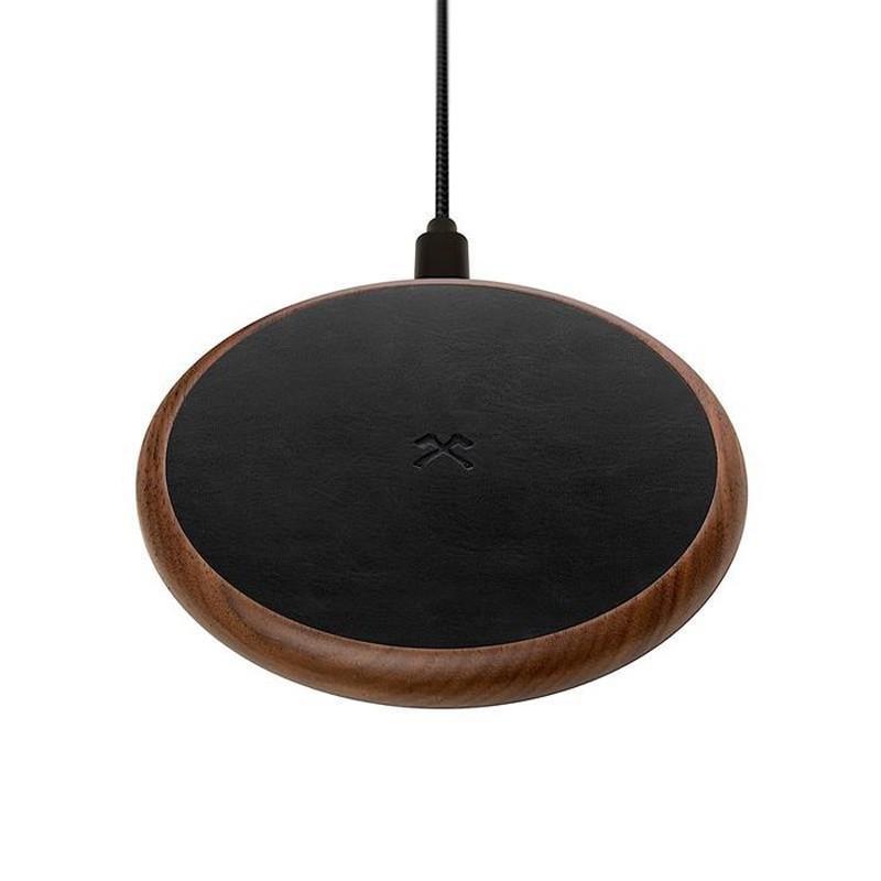 Купить Беспроводная зарядка из дерева Woodcessories EcoPad Walnut   Leather для iPhone   Samsung   AirPods