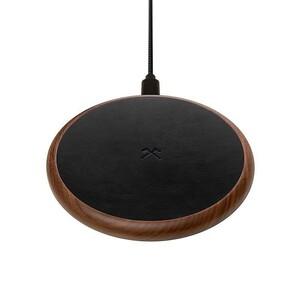 Купить Беспроводная зарядка из дерева Woodcessories EcoPad Walnut/Leather для iPhone/Samsung/AirPods