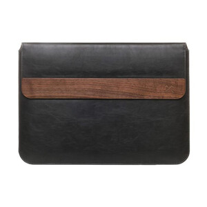 Купить Кожаный чехол Woodcessories EcoPouch Walnut | Black Lather для MacBook Air 11"