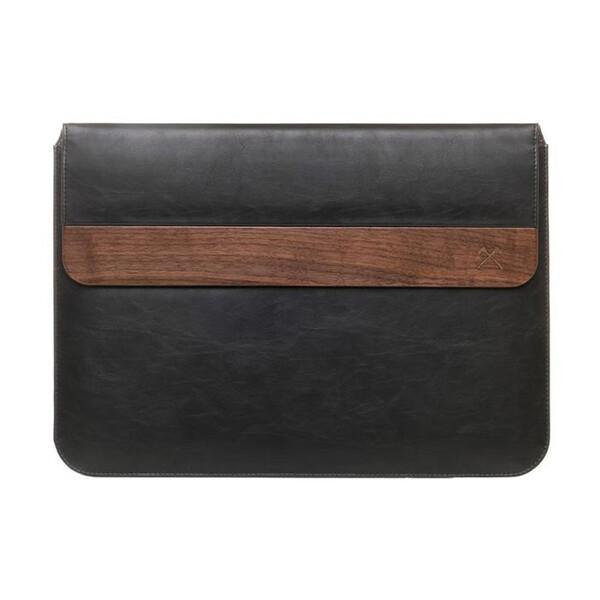 "Кожаный чехол Woodcessories EcoPouch Walnut | Black Lather для MacBook Air 11"" | Air 13"" | Pro 13"""