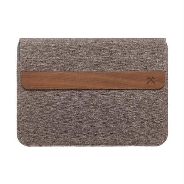 "Тканевый чехол Woodcessories EcoPouch Walnut | Brown Wool для MacBook Air 11"" | Air 13"" | Pro 13"""