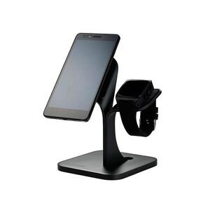 Купить Алюминиевая док-станция WP1 Stand Black для iPhone/Apple Watch
