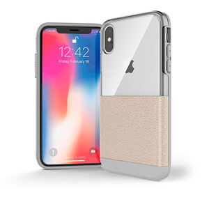 Купить Чехол X-Doria Dash Cream White Leather для iPhone XS Max