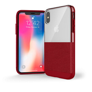 Купить Чехол X-Doria Dash Red Leather для iPhone XS Max
