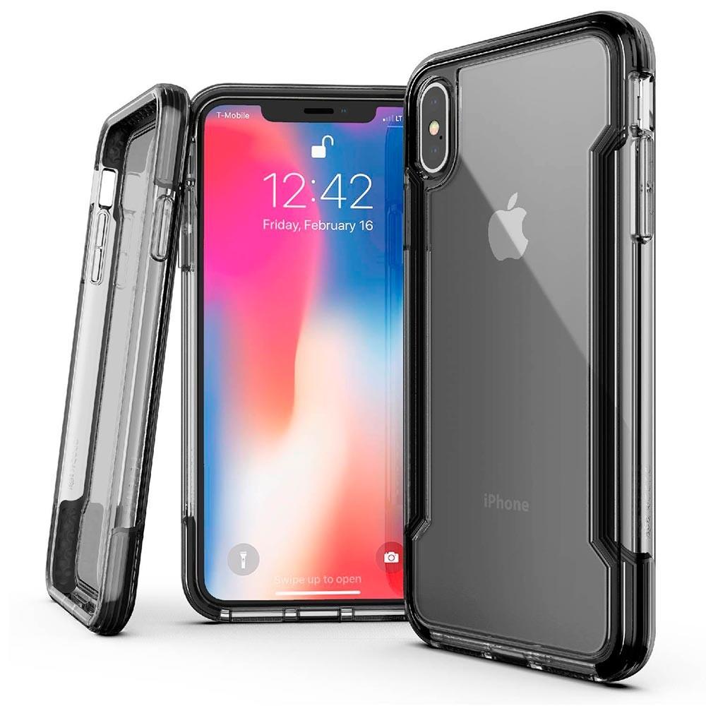 Противоударный чехол X-Doria Defense Clear Black для iPhone XS Max
