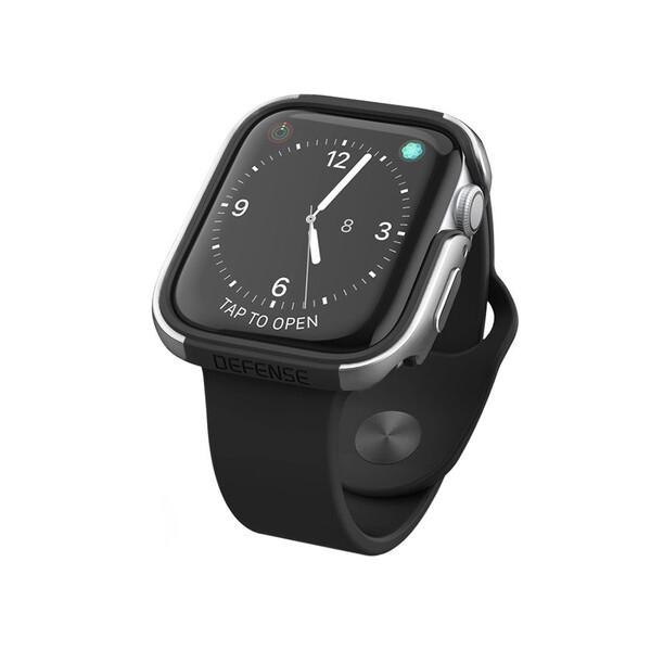 Противоударный чехол X-Doria Defense Edge Silver для Apple Watch 44mm SE   6   5   4