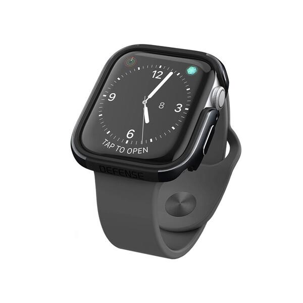 Противоударный чехол X-Doria Defense Edge Black для Apple Watch 44mm SE | 6 | 5 | 4