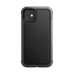 Купить Противоударный чехол X-Doria Defense Lux Black Carbon для iPhone 11