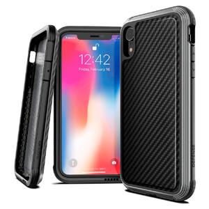 Купить Противоударный чехол X-Doria Defense Lux Black Carbon для iPhone XR