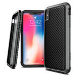 Противоударный чехол X-Doria Defense Lux Black Carbon для iPhone XS Max
