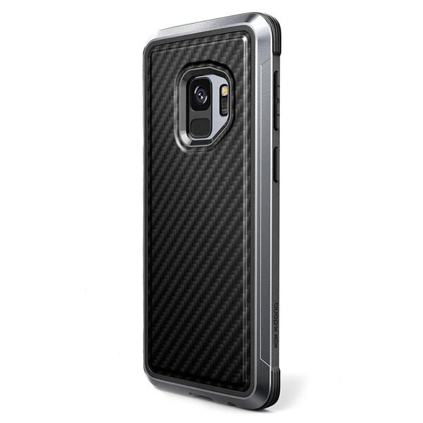Противоударный чехол X-Doria Defense Lux Black Carbon для Samsung Galaxy S9