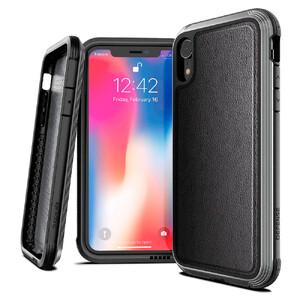 Купить Противоударный чехол X-Doria Defense Lux Black Leather для iPhone XR