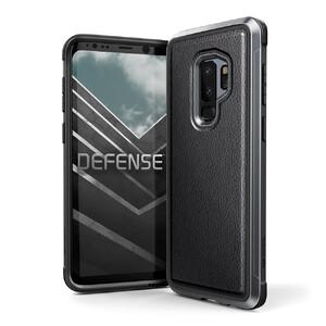 Купить Противоударный чехол X-Doria Defense Lux Black Leather для Samsung Galaxy S9 Plus