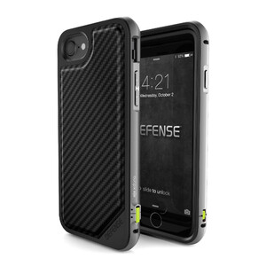 Купить Чехол X-Doria Defense Lux Black Carbon для iPhone 7/8