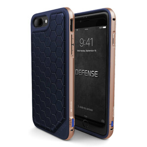 Купить Чехол X-Doria Defense Lux Blue-Gold для iPhone 7 Plus