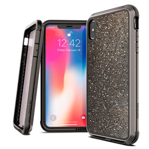 Купить Противоударный чехол X-Doria Defense Lux Dark Glitter для iPhone XS Max