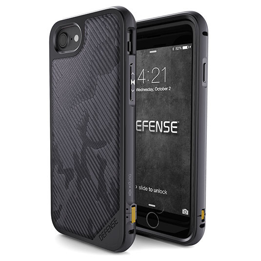 Противоударный чехол X-Doria Defense Lux Camo Gray Desert Camo для iPhone 7/8