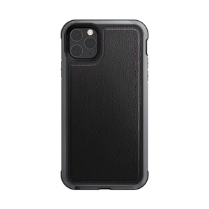 Купить Противоударный чехол X-Doria Defense LUX Black Leather для iPhone 11 Pro
