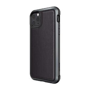 Купить Противоударный чехол X-Doria Defense LUX Black Leather для iPhone 11 Pro Max