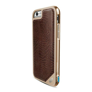 Купить Чехол X-Doria Defense Lux Brown Croc для iPhone 6/6s Plus