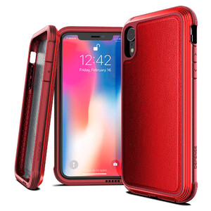 Купить Противоударный чехол X-Doria Defense Lux Red для iPhone XR