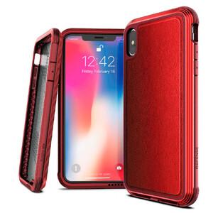 Купить Противоударный чехол X-Doria Defense Lux Red для iPhone XS Max