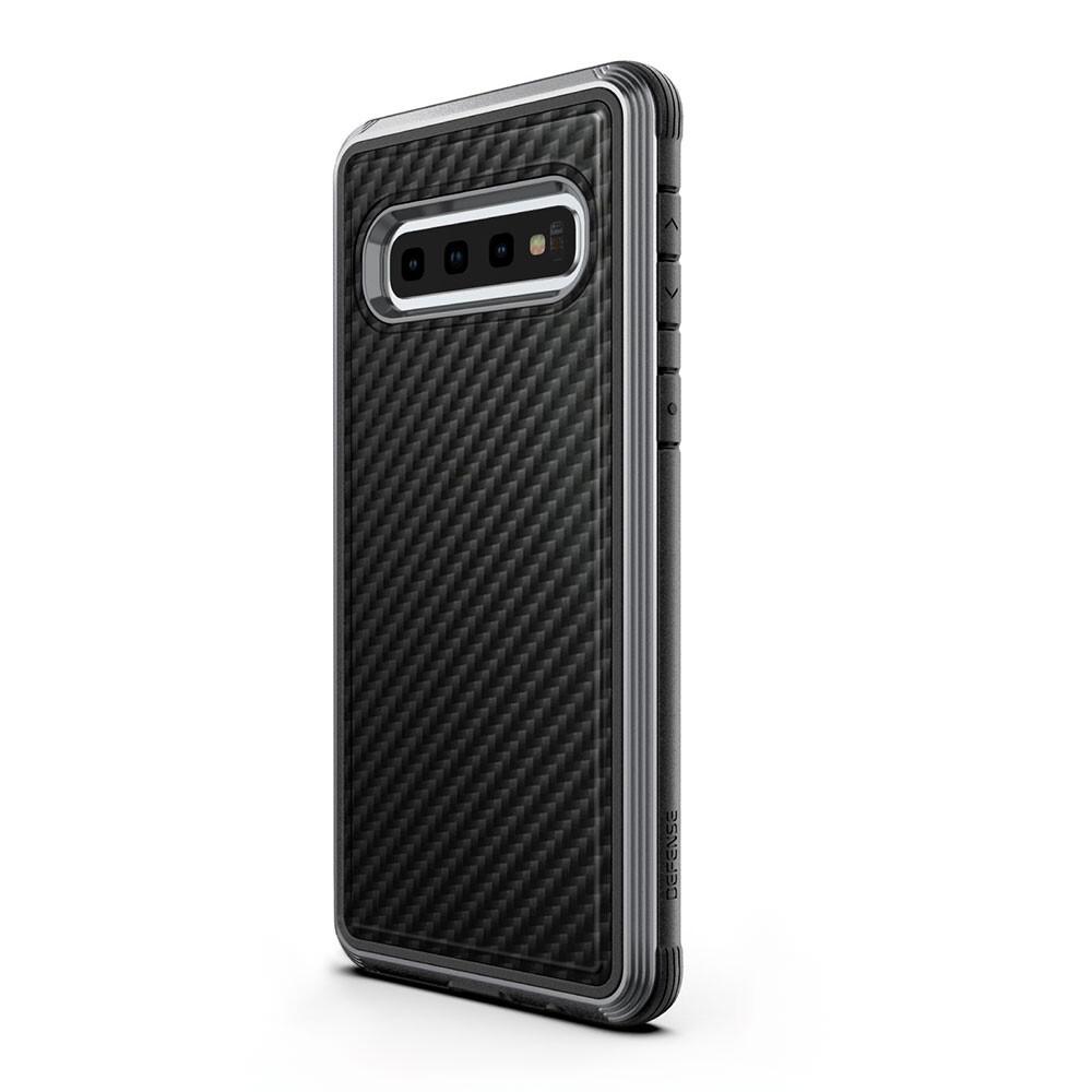 Противоударный чехол X-Doria Defense Lux Black Carbon для Samsung Galaxy S10