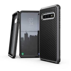Купить Противоударный чехол X-Doria Defense Lux Black Carbon для Samsung Galaxy S10 Plus