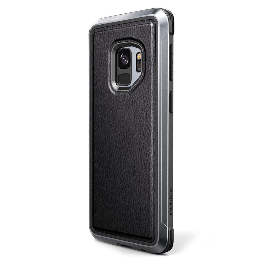 sale retailer 4acb9 15484 Противоударный чехол X-Doria Defense Lux Black Leather для Samsung Galaxy S9
