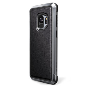 Купить Противоударный чехол X-Doria Defense Lux Black Leather для Samsung Galaxy S9