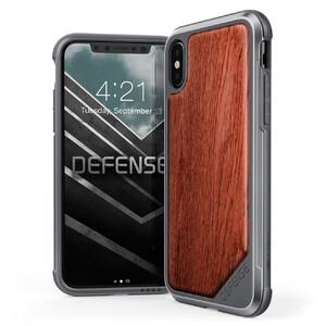 Купить Противоударный чехол X-Doria Defense Lux Rosewood для iPhone X/XS