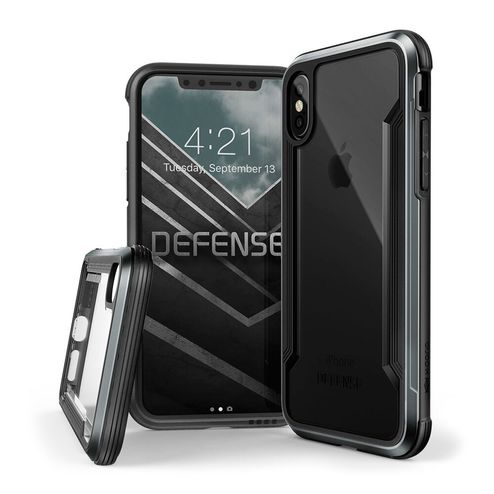 Противоударный чехол X-Doria Defense Shield Black для iPhone X/XS