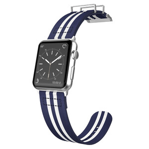 Купить Нейлоновый ремешок X-Doria Field Band Blue/White для Apple Watch 38mm Series 1/2/3