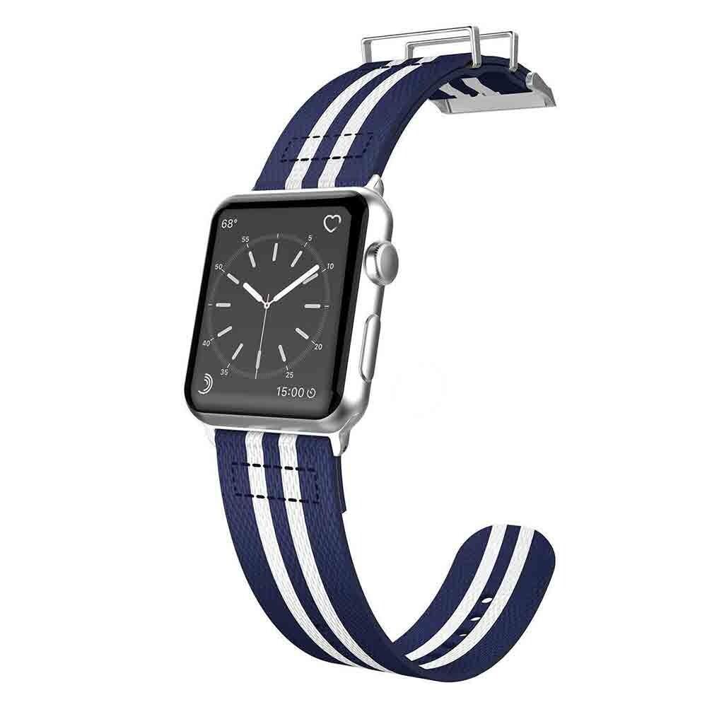 Нейлоновый ремешок X-Doria Field Band Blue/White для Apple Watch 42mm Series 1/2/3