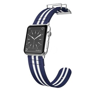Купить Нейлоновый ремешок X-Doria Field Band Blue/White для Apple Watch 42mm Series 1/2/3