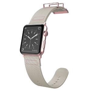 Купить Нейлоновый ремешок X-Doria Field Band Gray/Rose для Apple Watch 38mm Series 1/2/3