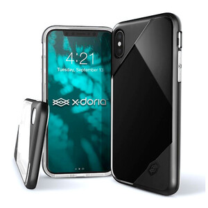 Купить Чехол X-Doria Revel Lux Transparent Black для iPhone X/XS