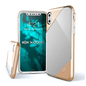Купить Чехол X-Doria Revel Lux Transparent Gold для iPhone X/XS