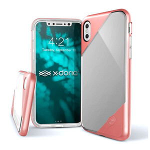 Купить Чехол X-Doria Revel Lux Transparent Pink для iPhone X/XS