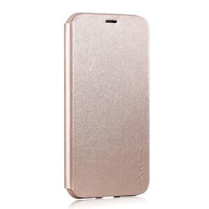 Купить Кожаный чехол-книжка X-Level FIB COLOR Gold для iPhone X/XS