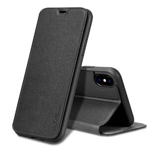 Купить Кожаный чехол-книжка X-Level FIB COLOR Black для iPhone X