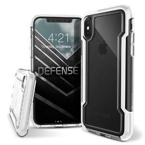 Купить Противоударный чехол X-Doria Defense Clear White для iPhone X/XS