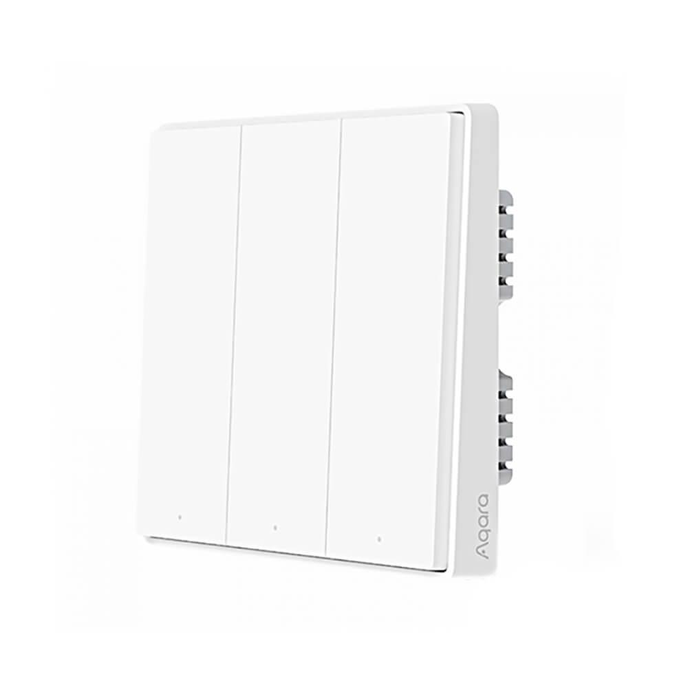 Купить Умный выключатель с нулевой линией Xiaomi Aqara D1 Smart Wall Switch (тройной)