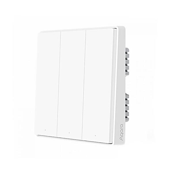 Умный выключатель с нулевой линией Xiaomi Aqara D1 Smart Wall Switch (тройной)