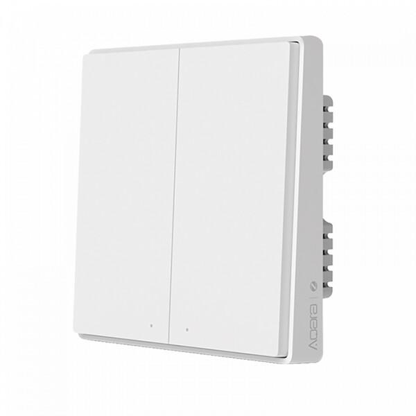 Умный выключатель с нулевой линией Xiaomi Aqara Smart Wall Switch D1 (двойной) Apple HomeKit с нулевой линией