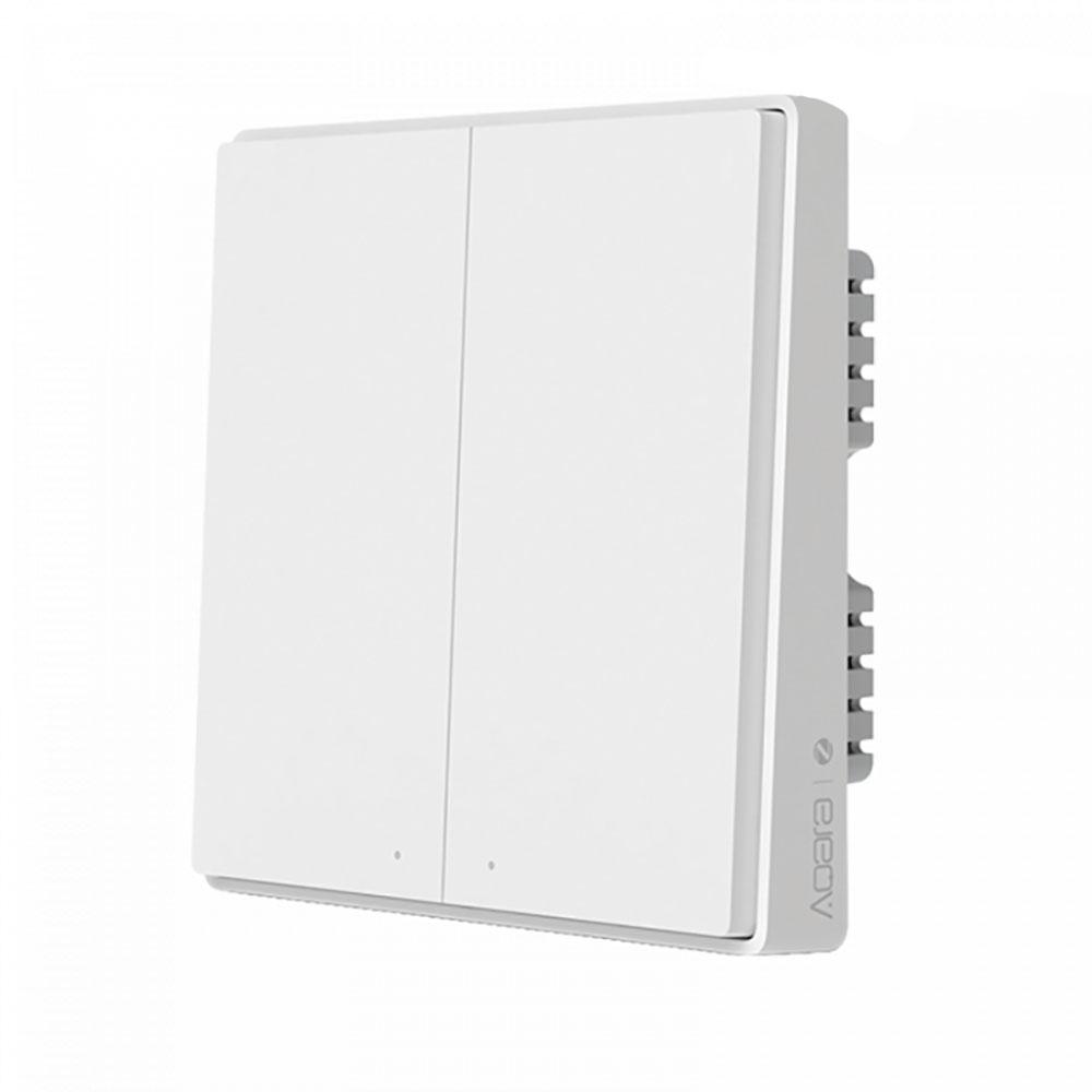 Купить Умный выключатель Xiaomi Aqara Smart Wall Switch D1 (двойной) Apple HomeKit без нулевой линии