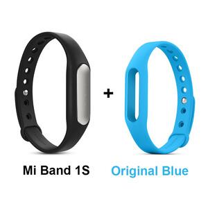 Купить Фитнес-браслет Xiaomi Mi Band Pulse 1S + Голубой ремешок