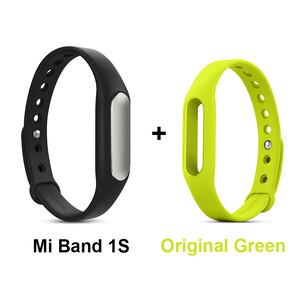 Купить Фитнес-браслет Xiaomi Mi Band Pulse 1S + Салатовый ремешок