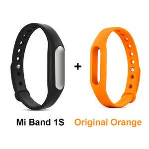 Купить Фитнес-браслет Xiaomi Mi Band Pulse 1S + Оранжевый ремешок