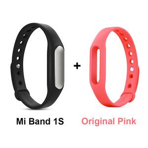 Купить Фитнес-браслет Xiaomi Mi Band Pulse 1S + Розовый ремешок